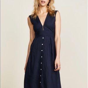 FAITHFULL THE BRAND- Navy blue midi dress! New!